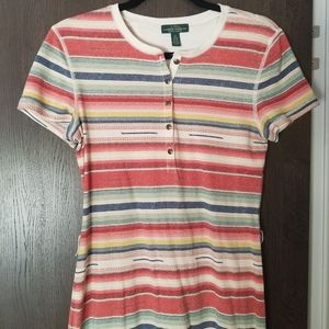 Ralph Lauren serape tshirt dress w/concho belt